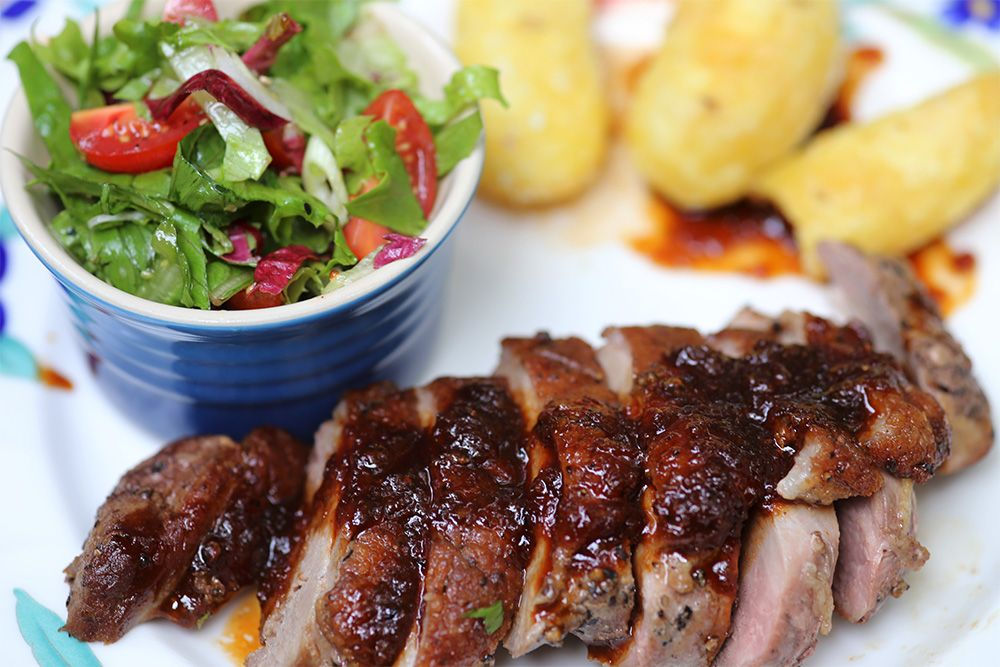 Pan Fried Duck Breasts with Honey, Soy and Ginger