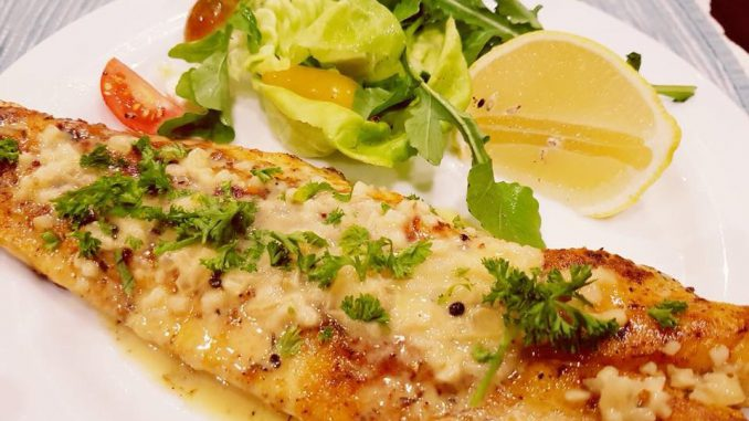 The world's best pan fried fish with rich lemon butter sauce