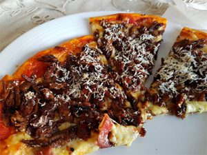 Brisket Sloppy Joe Pizza